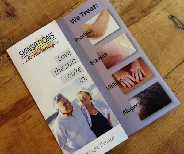 Skin-Be-Clear Brochure and Custom Embroidered Shirts