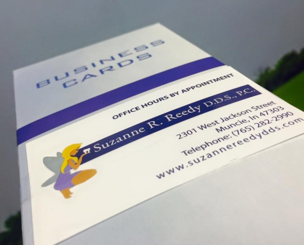 Reedy DDS Foil Stamped Business Cards