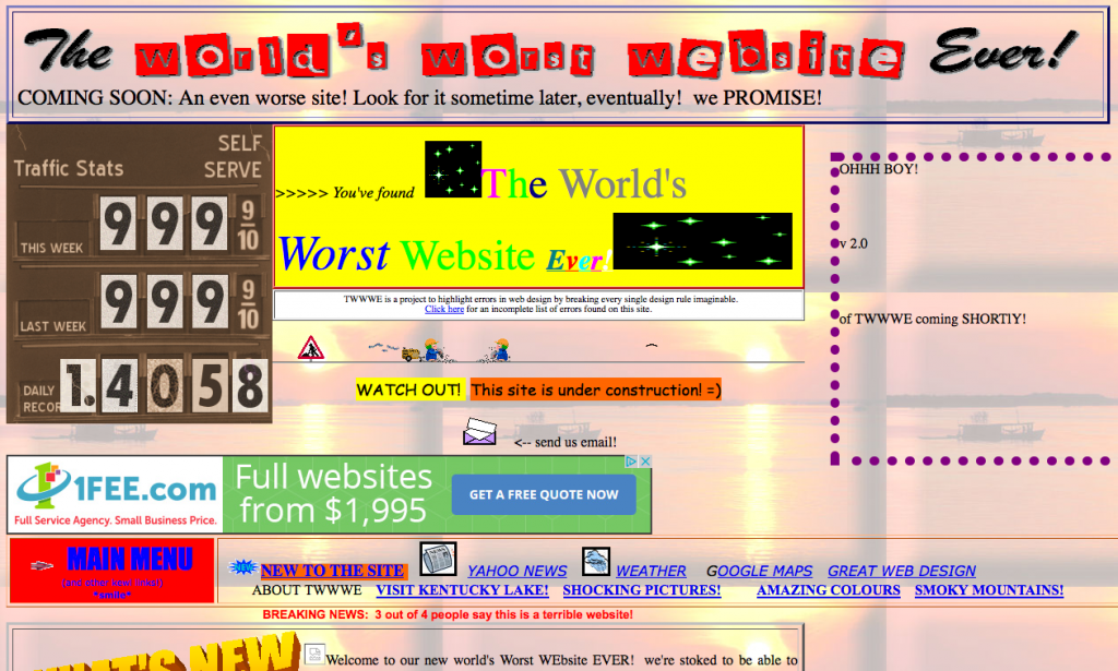 Welcome To The Worst Website In The World Inc