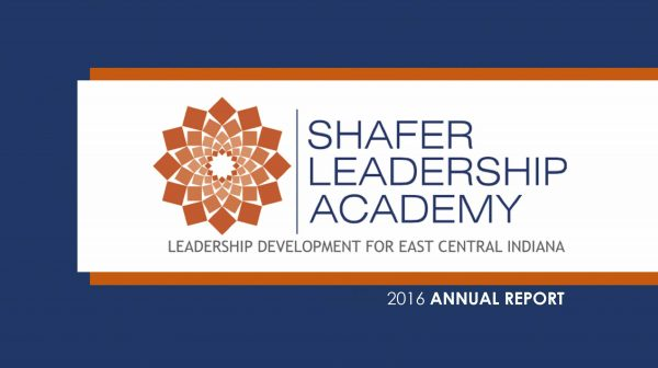 Shafer Leadership Academy 2016 Annual Report