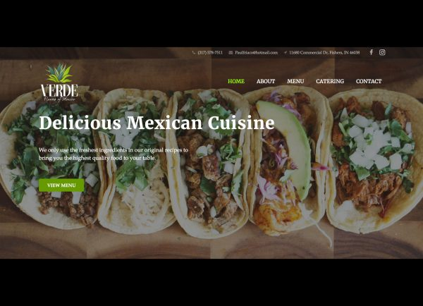 Verde, Flavors of Mexico